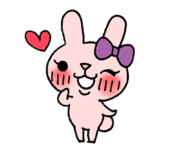 Pinky Rabbit Raby sticker #633258