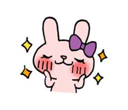 Pinky Rabbit Raby sticker #633259