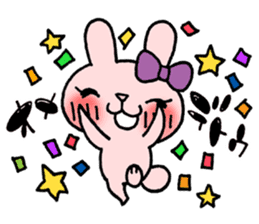 Pinky Rabbit Raby sticker #633261