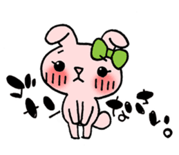 Pinky Rabbit Raby sticker #633267