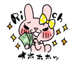 Pinky Rabbit Raby sticker #633272
