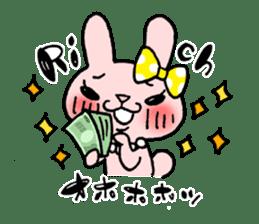 Pinky Rabbit Raby sticker #633272