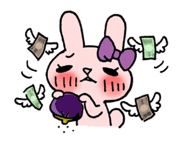 Pinky Rabbit Raby sticker #633273