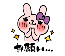 Pinky Rabbit Raby sticker #633274