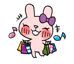Pinky Rabbit Raby sticker #633275