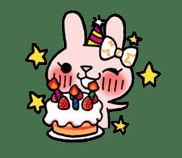 Pinky Rabbit Raby sticker #633276