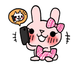 Pinky Rabbit Raby sticker #633278