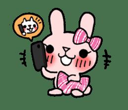 Pinky Rabbit Raby sticker #633278