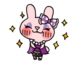 Pinky Rabbit Raby sticker #633281