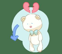 Lovely white bear sticker #633325