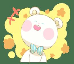 Lovely white bear sticker #633328