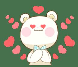 Lovely white bear sticker #633329