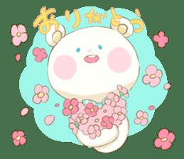Lovely white bear sticker #633330
