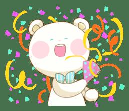 Lovely white bear sticker #633334