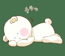Lovely white bear sticker #633336