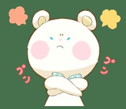 Lovely white bear sticker #633337