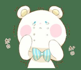 Lovely white bear sticker #633340