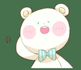 Lovely white bear sticker #633341