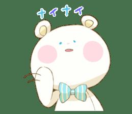 Lovely white bear sticker #633343