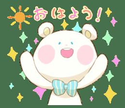 Lovely white bear sticker #633344