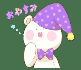 Lovely white bear sticker #633345