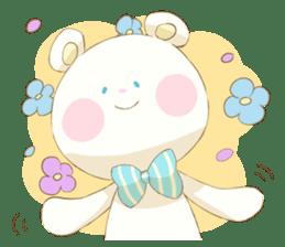 Lovely white bear sticker #633346