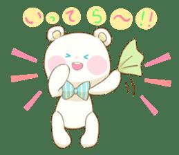 Lovely white bear sticker #633348