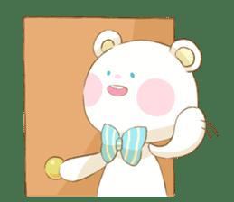 Lovely white bear sticker #633349