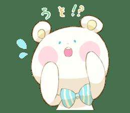 Lovely white bear sticker #633350