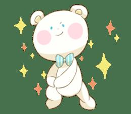 Lovely white bear sticker #633351