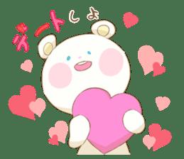 Lovely white bear sticker #633352