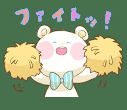 Lovely white bear sticker #633354