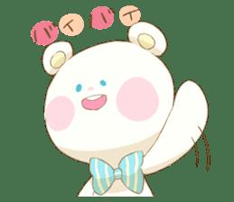 Lovely white bear sticker #633360