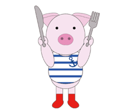 Port town pig Ton Ton sticker #639709