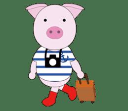 Port town pig Ton Ton sticker #639710