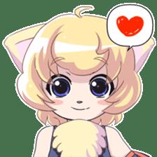 Beast girl icon sticker #640806