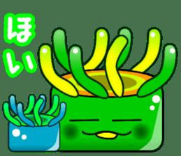 Sea anemone Line stamp sticker #641256