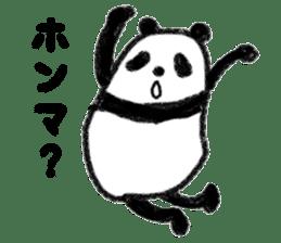 Three Words Panda sticker #641315