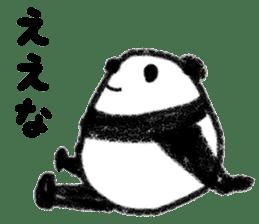 Three Words Panda sticker #641321