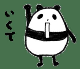 Three Words Panda sticker #641336