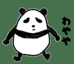 Three Words Panda sticker #641338
