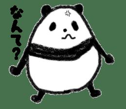 Three Words Panda sticker #641341