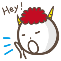 Naughty ogre boy YOSHIO English version sticker #642329