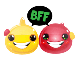 Cute and adorable jelly stickers sticker #642845