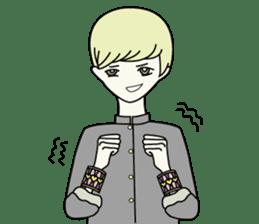 GAKURAN BOY of wizard sticker #643157