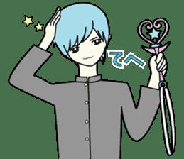GAKURAN BOY of wizard sticker #643159