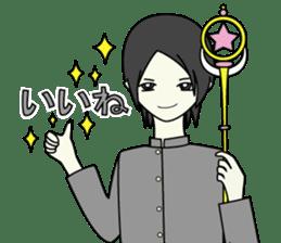 GAKURAN BOY of wizard sticker #643170