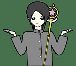 GAKURAN BOY of wizard sticker #643171