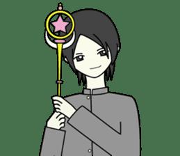 GAKURAN BOY of wizard sticker #643175