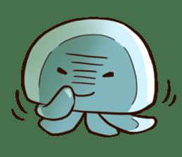 Pretty jellyfish sticker #643402